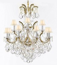 Made with Swarovski Crystal Maria Theresa Chandelier Lights Fixture Pendant Ceil - $711.77