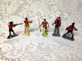 Vintage, Painted, 5-pcs Miniature Soldiers 2 to 2.5in each (#1) - $3.75