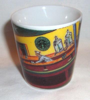 Starbucks Coffee Espresso Shotglass Nighthawks Diner D. Burrows