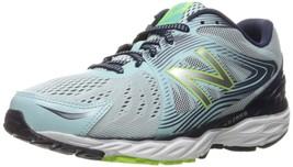 New Balance Women's W680V4 Running Shoe Ozone BLUE/DK DENIM/ALPHA Pink 5.5 M Us - $50.51