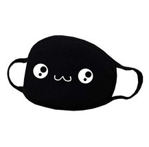 Unisex Black Cotton Face Mouth Mask Reuseable Dustproof Antibacterial Masks - A - $9.18