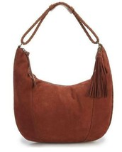 LUCKY BRAND NWT Braided Leather MYRA Large Hobo Shoulder Bag RYE Brown - $127.01