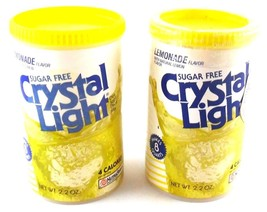 Crystal Light Lemonade Containers MCI Advertising Lot of 2 Vintage 1990s - $9.99