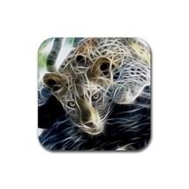 Leopard Animal (Square) Rubber Coaster - $2.99