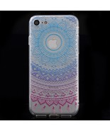 XINCUCO Gradient Lace Pattern TPU Back Case for iPhone 8/7 4.7 inch - Bl... - $6.30