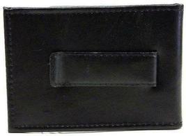 NEW TOMMY HILFIGER MEN'S LEATHER CREDIT CARD WALLET MONEY CLIP BLACK 31HP16X001 image 5