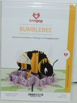 Lovepop LP1706 Bumblebee Pop Up Card with White Envelope Cellophane Wrapped image 6