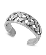 Women's Adjustable Braid Toe Ring In 14k White Gold Plated 925 Sterling ... - $9.99
