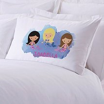 Personalized Direct Personalized Kids Mermaid Friends Pillow Case - $8.99