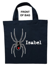 Black Widow Trick or Treat Bag, Custom Black Widow Halloween Loot Bag - $11.99+