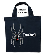 Black Widow Trick or Treat Bag, Custom Black Widow Halloween Loot Bag - $11.39+