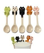 1 Piece Cute Cartoon Animal Ceramic Hanging Coffee Scoop Milk Tea Soup S... - £6.24 GBP