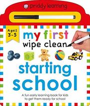 Priddy Learning: My First Wipe Clean Starting School: A Fun Early Learni... - $8.90