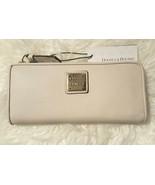 NWT Dooney & Bourke Belvedere Fog Soft Leather Long Slim Zip Wallet - $89.99