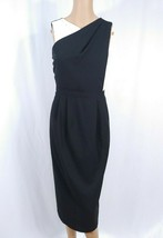 NWT ASOS Maternity Wrap Midi Dress SZ 10 Black White Sheath Colorblock C... - $18.70