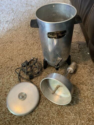 Vintage Electric Coffee Percolator / C-9292 / 22 Cup / With Cord / 1970