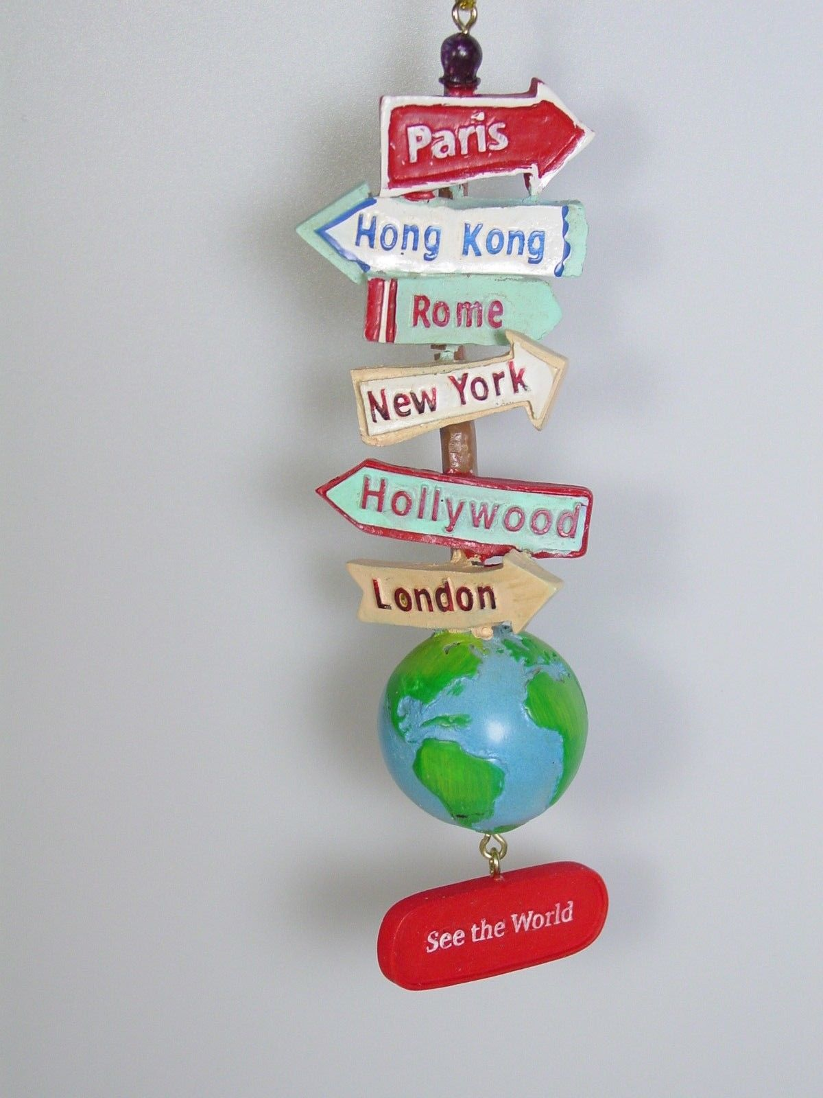 See The World Traveler Signs Christmas Ornament Bon Voyage retirement gift