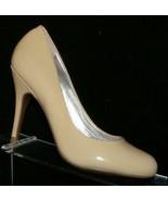 Jessica Simpson 'Oscar' nude tan patent leather round toe slip on heel 6B - $33.30