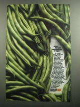 1991 Del Monte Green Beans Ad - Would you add preservatives to these? - $14.99