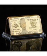 WR United States $5 Five Dollar 999 Fine Gold Clad Art Bar Bullion Holid... - $4.49