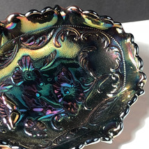 FENTON CARNIVAL GLASS vintage candy serving dish tray glassware flowers floral - $64.35