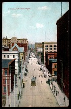Denver 17th St Trolley Postcard 1909 Colorado Denver Union Depot Railroa... - $14.99