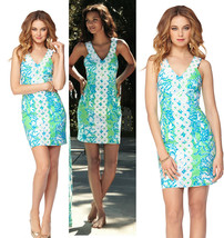 $228 Lilly Pulitzer Trudy Go Go Green Northeast Hahbah Lace Trim Shift D... - $157.50