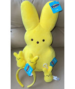 "NEW Peeps Yellow PEEP Bunny Plush Rabbit Lrg 17"" Headband & Key Clip Eas... - $49.99"
