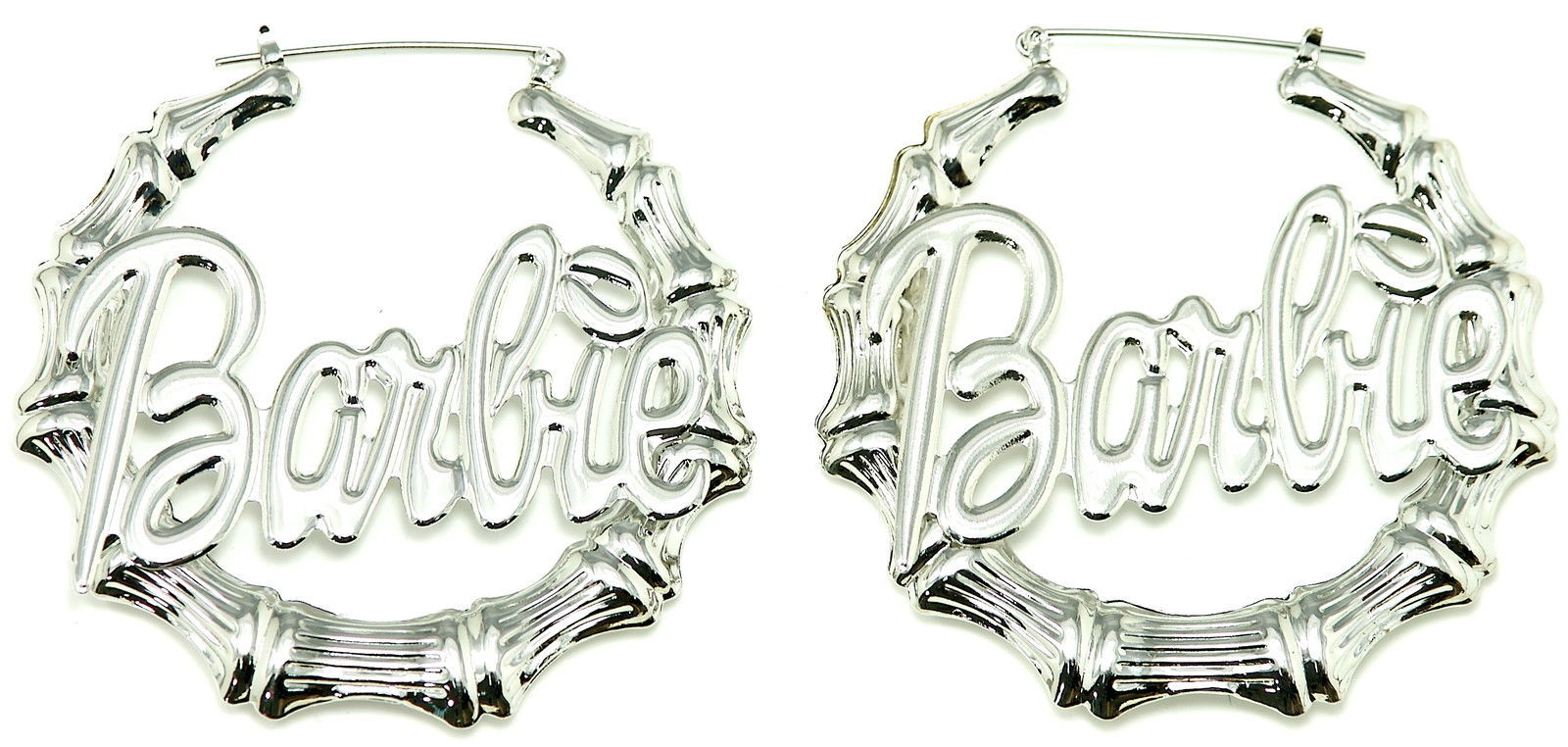 Primary image for Bamboo Hoop New Barbie Pincatch Light Weight Earrings