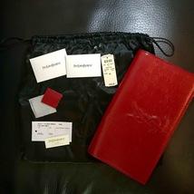 100% Authentic Saint Laurent YSL Belle De Jour RED Patent Clutch - $599.99