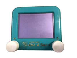 An item in the Toys & Hobbies category: Vintage Travel Etch A Sketch Pocket Size Green by Ohio Art Toy Used