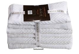 BAMBOO LUXURY 6 PIECE COTTON BATH TOWELS HAND WASH CLOTHS BATHROOM TOWEL... - $34.95