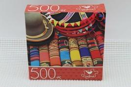 New Cardinal Puzzle 500 Pcs 14 x 11 Market in Peru - $5.34