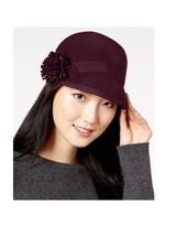 Nine West Flower Felt Cap Burgundy One Size Hat - $50 - NWT - $17.09