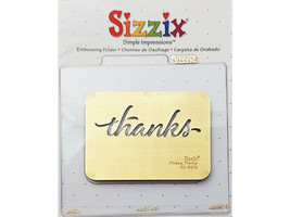 Sizzix Metal Embossing Plate, Thanks #38-9672