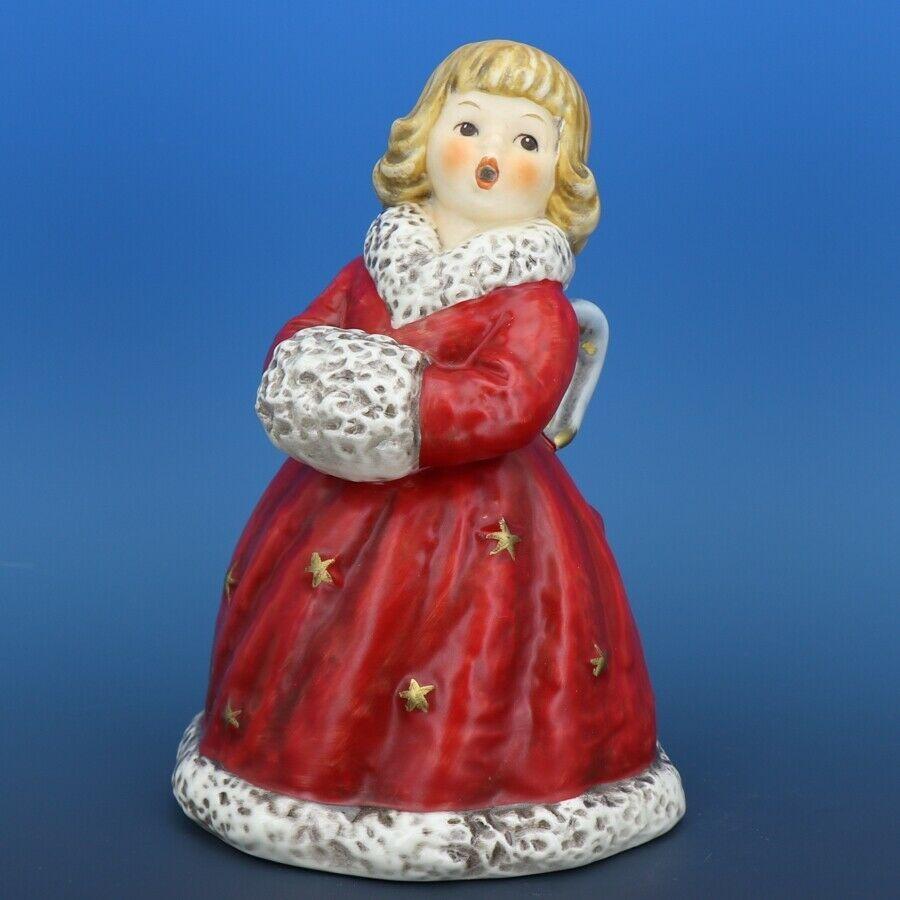 Red Angel Christmas Choir Bell Figurine c.1979 Goebel W. Germany
