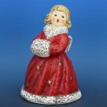 Red Angel Christmas Choir Bell Figurine c.1979 Goebel W. Germany image 1