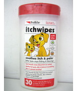 PETKIN ITCHWIPES Anti- itch Pet Wipes for Cats & Dogs, 30 count - $7.91