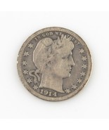 1914-S 25¢ Barber Quarter G+ Condition, Natural Color, Full Complete Rim... - £105.79 GBP