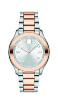 BRAND NEW MOVADO BOLD 3600430 TWO TONE STAINLESS STEEL SILVER DIAL WOMEN... - $341.90 CAD