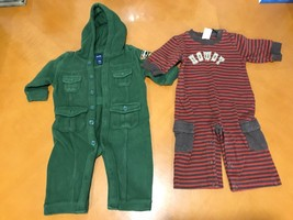 Lot of 2 Baby Boys Toddlers babyGap Gymboree Green Red One-Piece Size 3-... - $9.89
