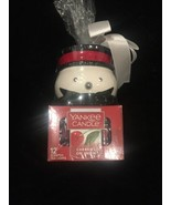 Yankee Candle Snowman with 12 Cherries on Snow Tealights New - $18.66