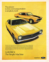 Vintage 1971 Magazine Ad Ford Answer To Low Cost Transportation is Simplicity - $5.93