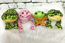 Plush Frogs By Ganz Lot Of 4 Stuffed Animals Frog Collection - $14.84