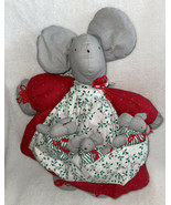 """Handmade Plush Christmas Mouse Momma & 3 Babies in Her Apron 14"""" Holiday... - $14.99"""