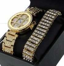 Luxury GP Out Lab Diamond Bezel & Band Tic Tac Toe Plus Bracelet Set - $38.21