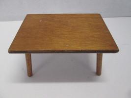 Vintage Halls Lifetime Toys Dollhouse Wooden Kitchen table - $8.86