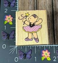 Hero Arts Star Ballerina Rubber Stamp Dancing Bear C535 1990 Wood #I19 - $2.72