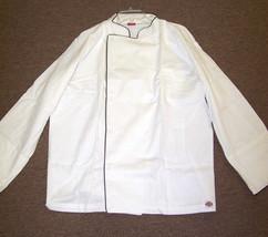 NWT Dickies Hospitality CW070105 Grand Master Chef Coat Jacket XS-4XL WHITE - $24.99