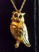 MAX FACTOR Owl Solid Perfume Pendant and Necklace - Vintage - FREE SHIPPING - $45.00